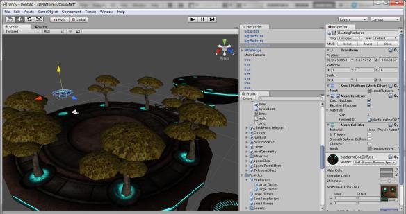 Tampilan dari Unity 3D